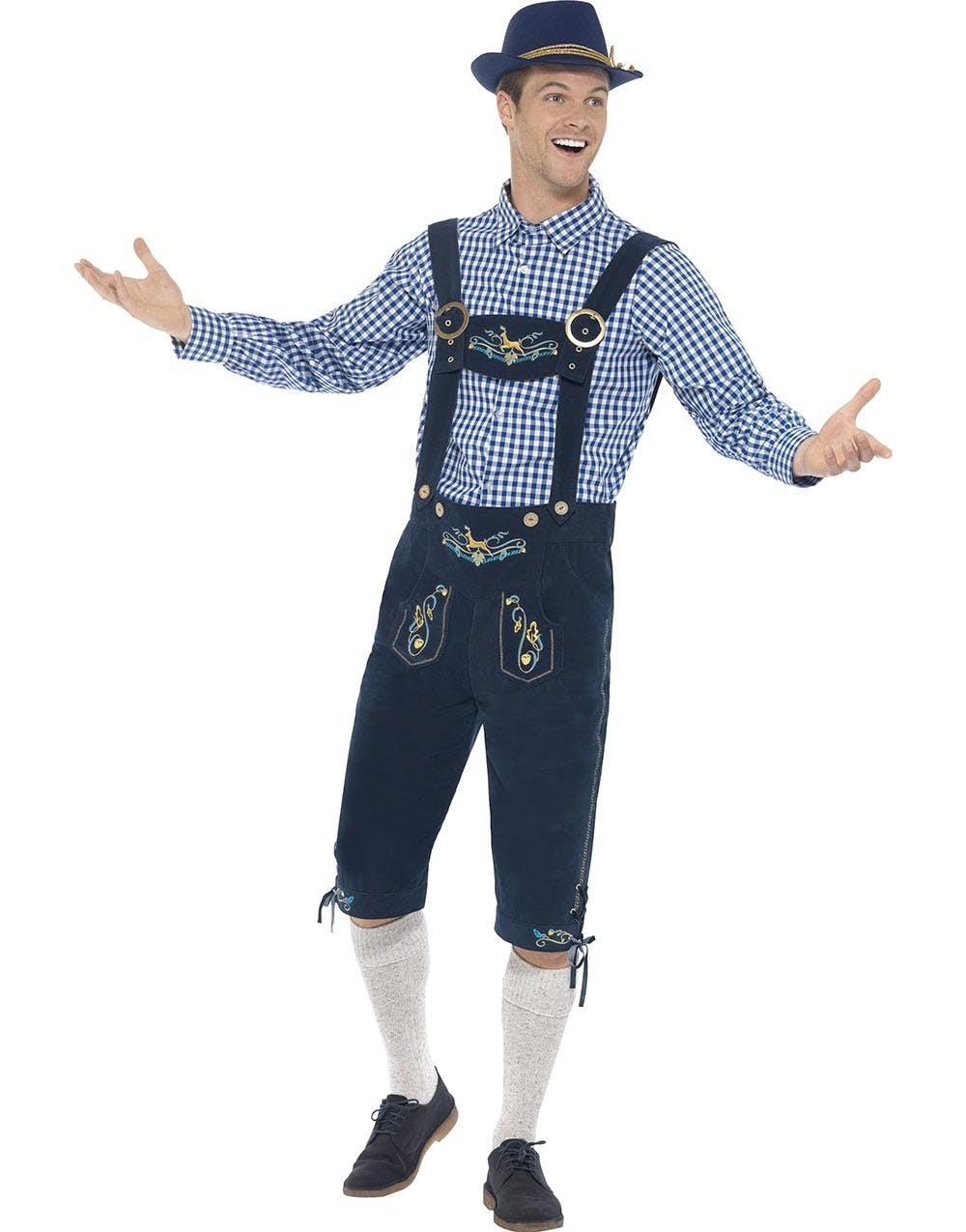 Traditionelle Oktoberfest Lederhosen Kostume Mænd