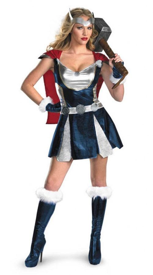 Superhelte Sassy Thor Kostume Til Kvinder