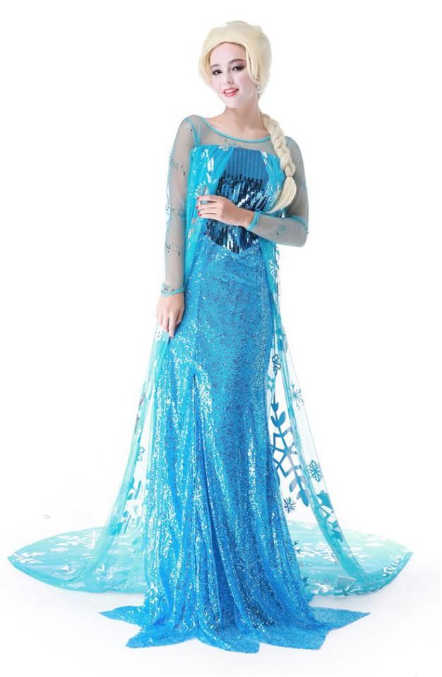 Kostume Elsa Frost Voksen Kjole Frost Elsa pIgUwq7a