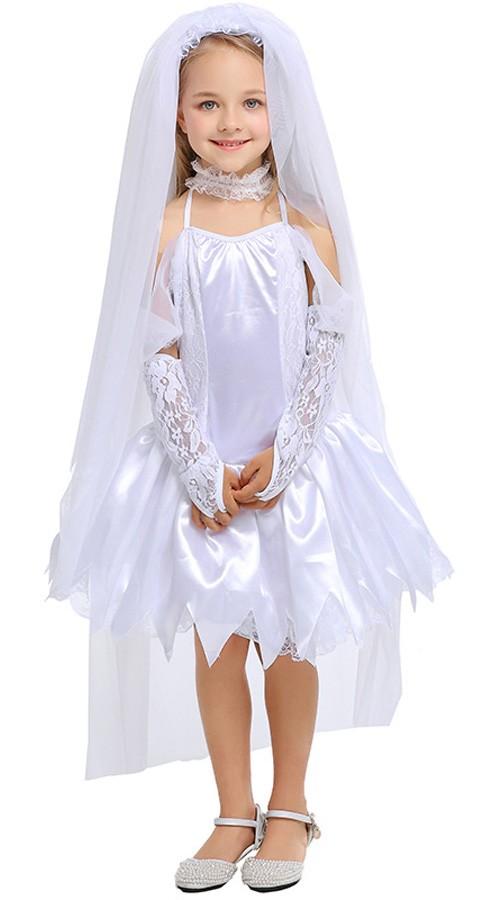 77a50bab Børn Brude Kostume Til Piger Halloween