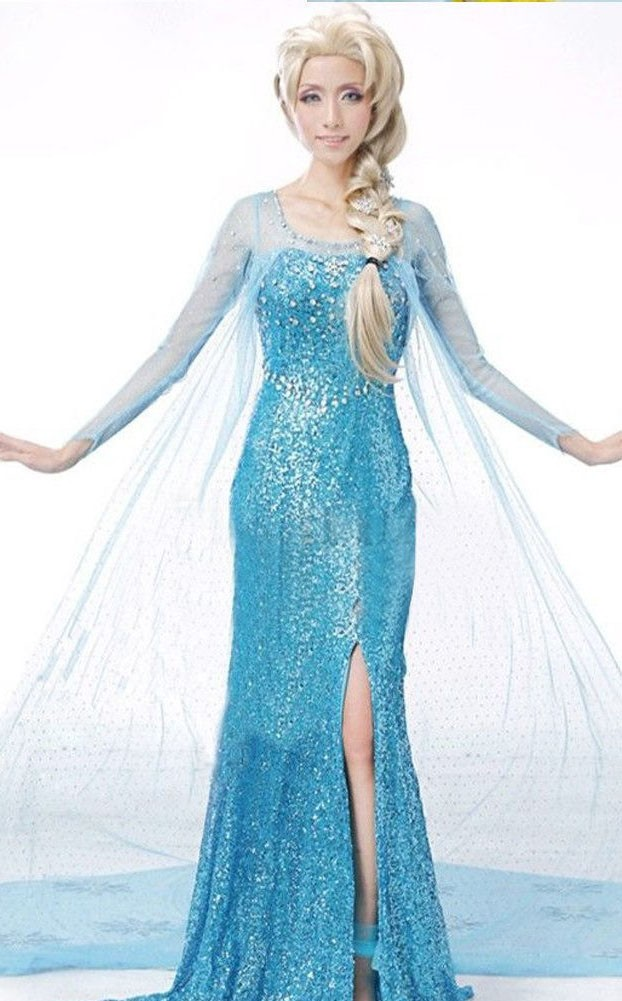Billige Kjole Frost Kostume Elsa Voksen rTa0r1WnH
