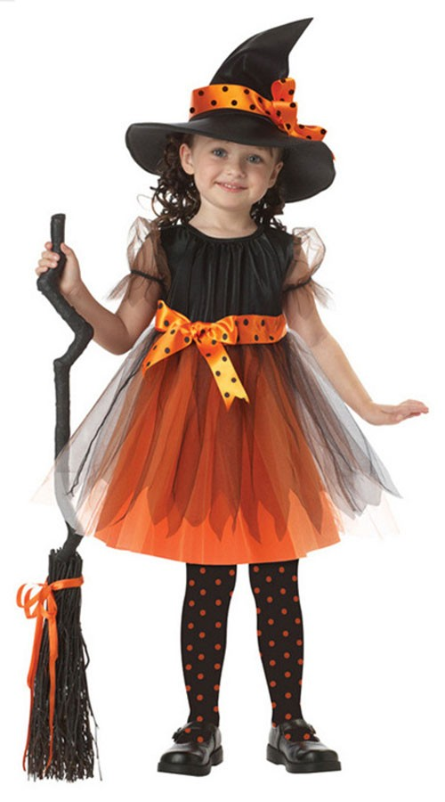 Halloween Magiske Hekse Kostume Til Børn