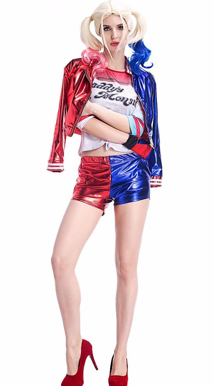 Print Suicide Squad Harley Quinn Kostume Voksne