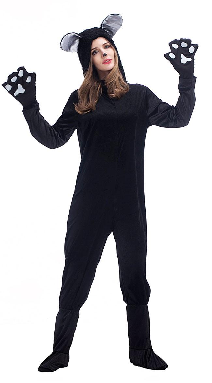 bc75c4b23f3 Sort Katte Kostume Til Kvinder