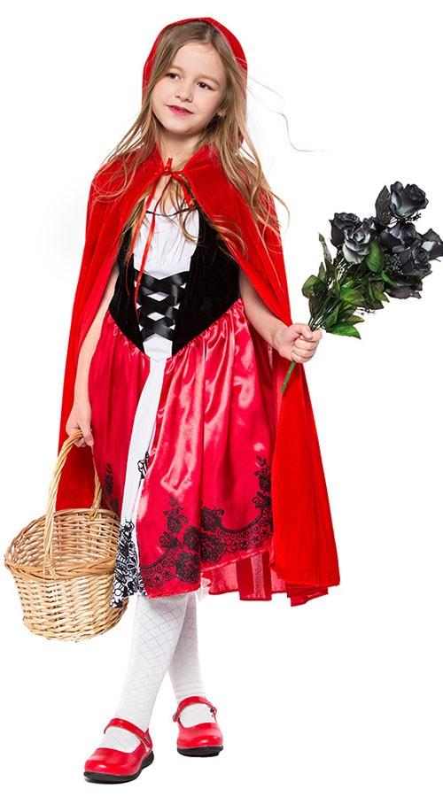 Halloween Lille Rødhætte Kostume til Børn