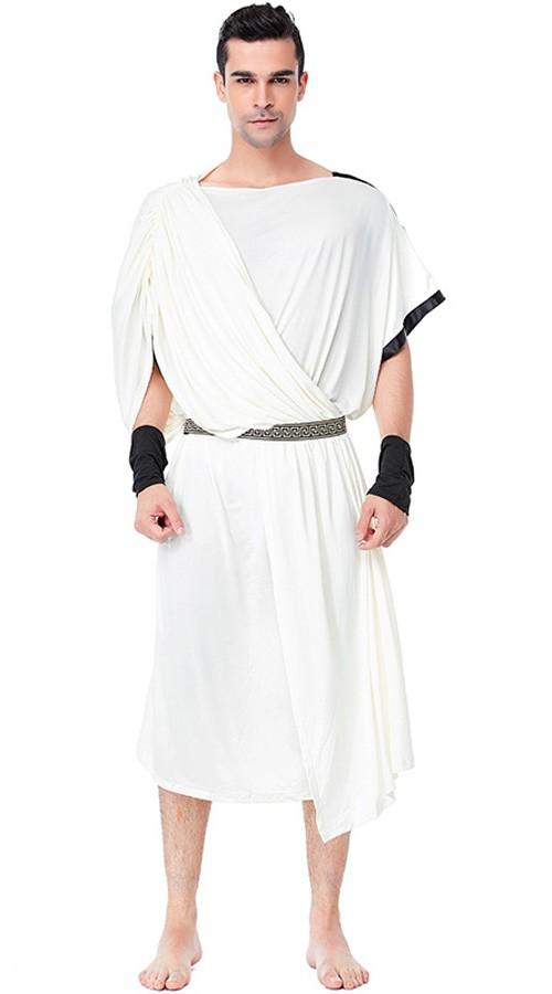 f60a22fcd046 Græsk Romersk Toga Kostume Til Mænd