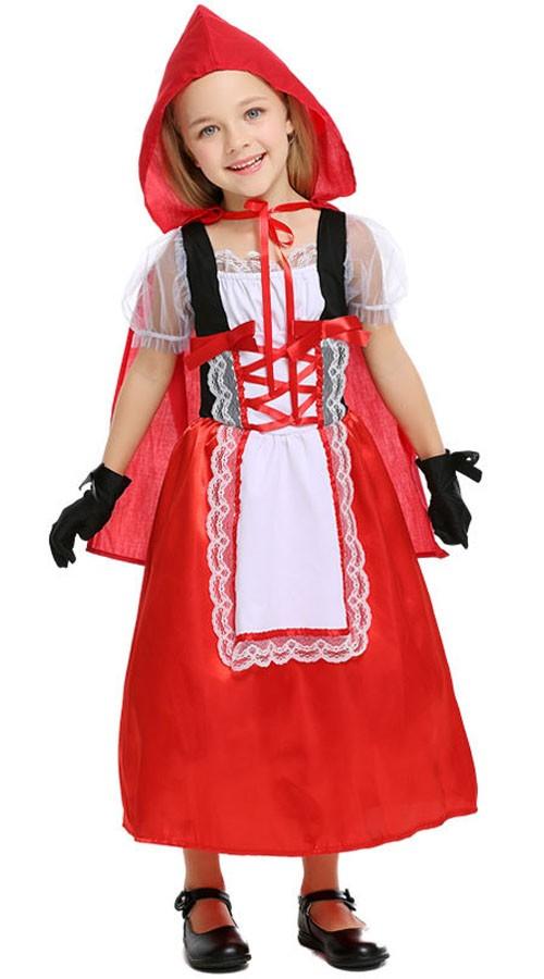 Børn Halloween Lille Rødhætte Kostume