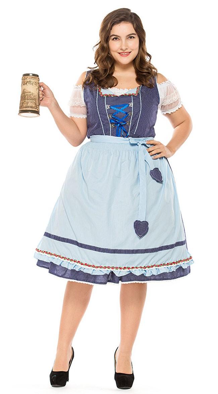 Vintage Tyroler Kostume Store Størrelser Dirndl Heidi Kjole
