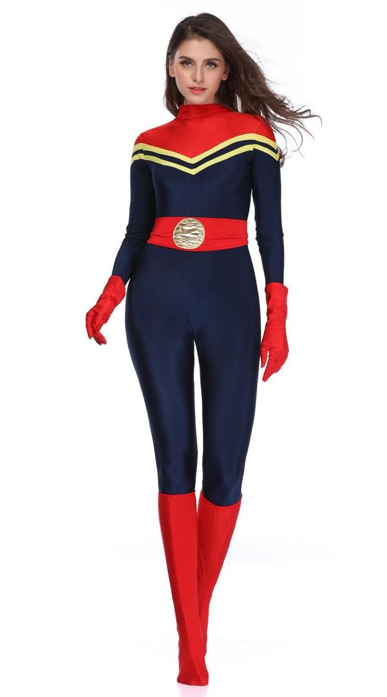 872568c2eb8a Kvinder Avengers Captain Marvel Kostume