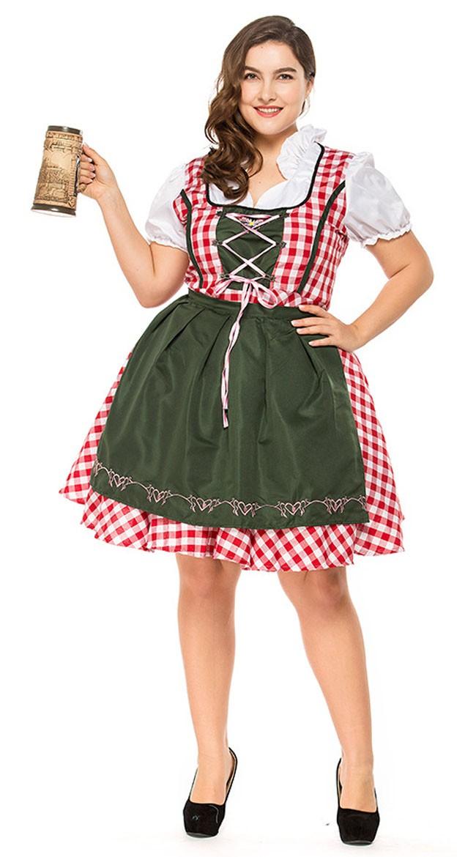 5aaea6cec728 Traditionel Lang Tyroler Kostume Store Størrelser Oktoberfestkjole