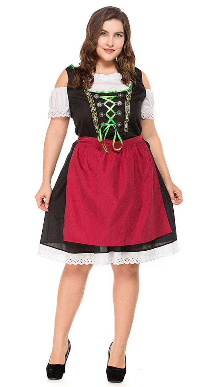 5d6b15ba7500 Bayersk Tyroler Kostume Store Størrelser Dirndl Heidi Kjole