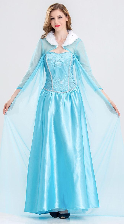 8ae31d4ba6d8 Disney Frost Kostumer Kjole Elsa   Anna Voksen Online Udsalg ...