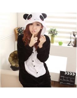 Langt Ærme Panda Kigurumi Cosplay Nattøj