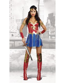 Klassisk Wonder Woman Kostume Superhelte Kostumer