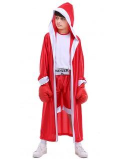 Børn Bokser Kostume Rød Børnekostume