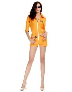 Halloween Orange Fange Kostume Til Pige