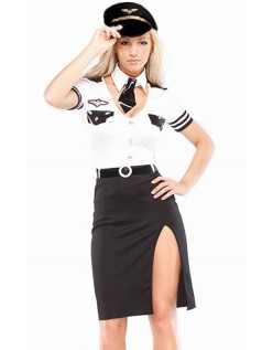 Stewardesse Pilotflyvning Kostume