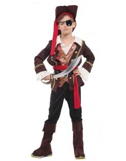 Halloween Børn Deluxe Pirat Kostume