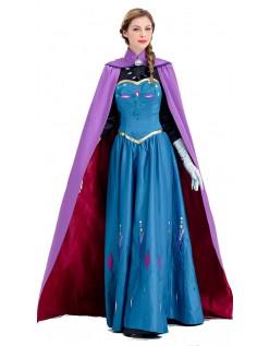 Deluxe Frozen Anna Kostume Kjole Voksen