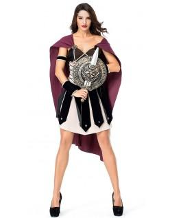 Glorværdigt Romersk Gladiator Kostume til Kvinder