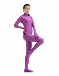 Lycra Spandex Skinsuits til Dame Second Skin Kostume Lilla