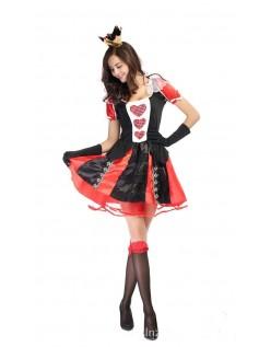Frække Alice i Eventyrland Hjerter Dronning Kostume