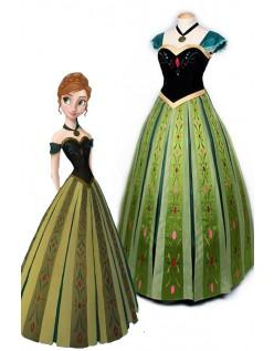 Voksen Deluxe Frozen Kjoler Prinsesse Anna Kostume