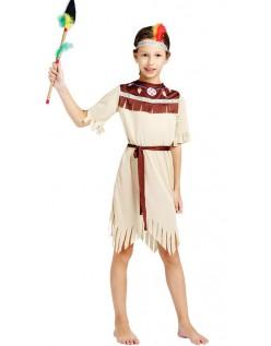 Udklædning Voksne Indianer Kostume til Pige