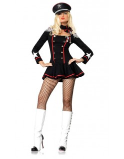 Store Mayhem Militære Stewardess Kostume