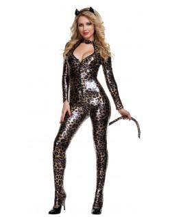 Frække Læder Leopard Vildt Kostume