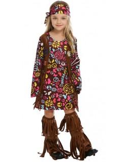 Fred & Kærlighed Hippie Kostume Til Børn