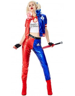 Suicide Squad Harley Quinn Kostume Klovnedragt