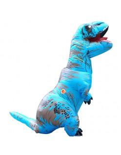 Oppustelig T-Rex Kostume til Voksne og Børn Blå
