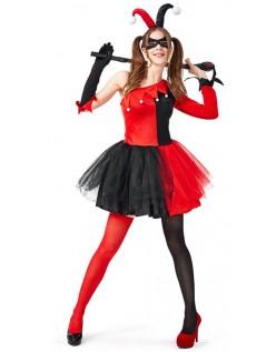 Kvinder Harley Quinn Kostume Halloween Klovnekostume Voksne