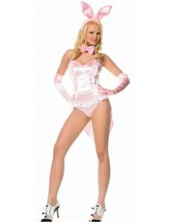 Lyserød Playboy Frække Bunny Kostume