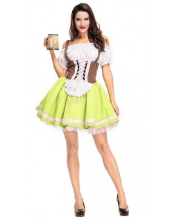 10124775ed02 Tyroler Kostume Tysk Gretchen Korset Oktoberfestkjole