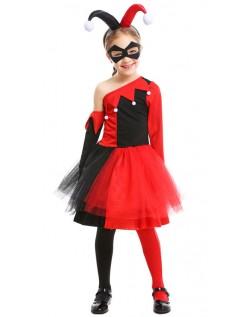 Børn Harley Quinn Kostume Halloween Klovnekostume