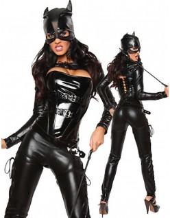 Frække Superhelt Catwoman Kostume
