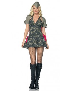 Camouflage Militære Spion Kostume