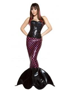 Frække Mørkt Havfrue Kostume