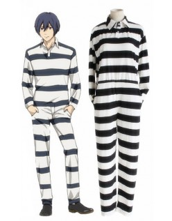 Prison School Uniform Stripe Jumpsuit Fange Kostume