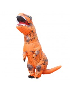 Oppustelig T-Rex Kostume Til Voksne Og Kids Orange