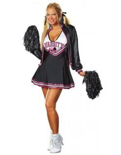 Varsity Deluxe Frække Cheerleader Kostume