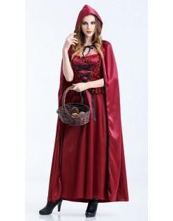 Glamourøse Halloween Lille Rødhætte Kostume