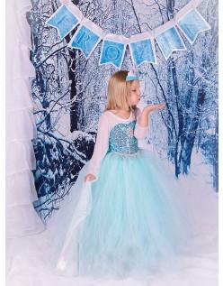 Klassisk Frozen Kostume til Børn Elsa Prinsessekjole