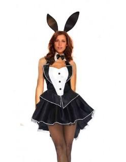 Sort Playboy Bunny Kostume