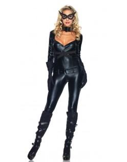 Sort Frække Superhelte Catwomen Kostume