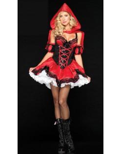 Deluxe Miss Rødhætte Kostume