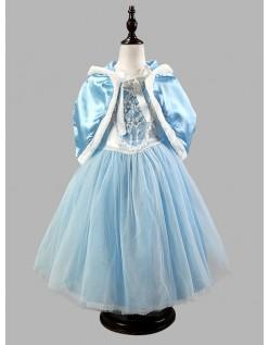 Vinter Eventyr Prinsesse Kjole Blå