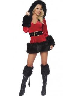 Minikjole Julekostume Sort Og Rød